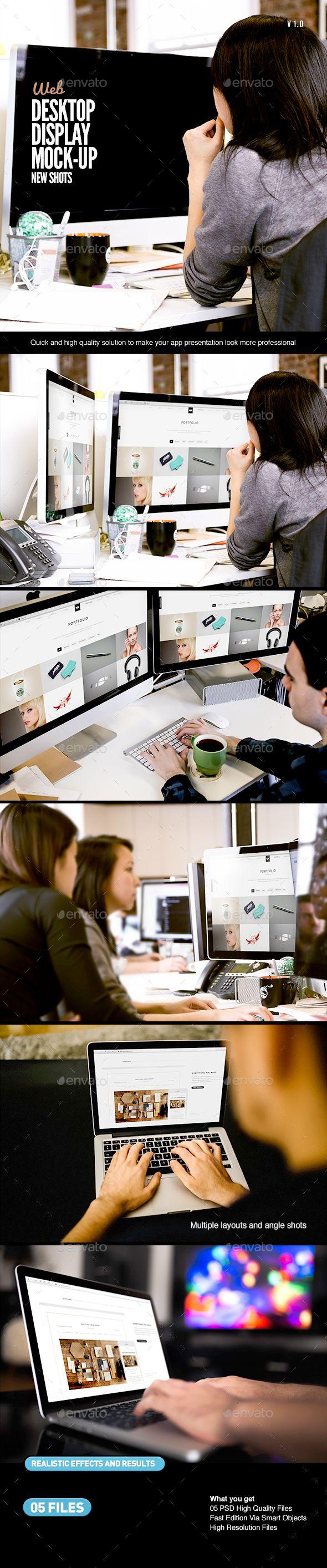 Desktop Screen Work Display Mock Up Displays