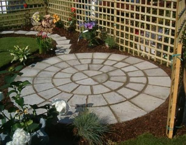 ideas for small patios with circle concrete floor more small patio