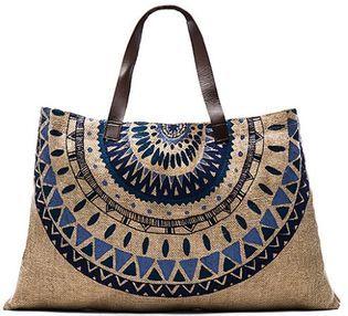 Beach Bag from The Beach People - Mandala Print