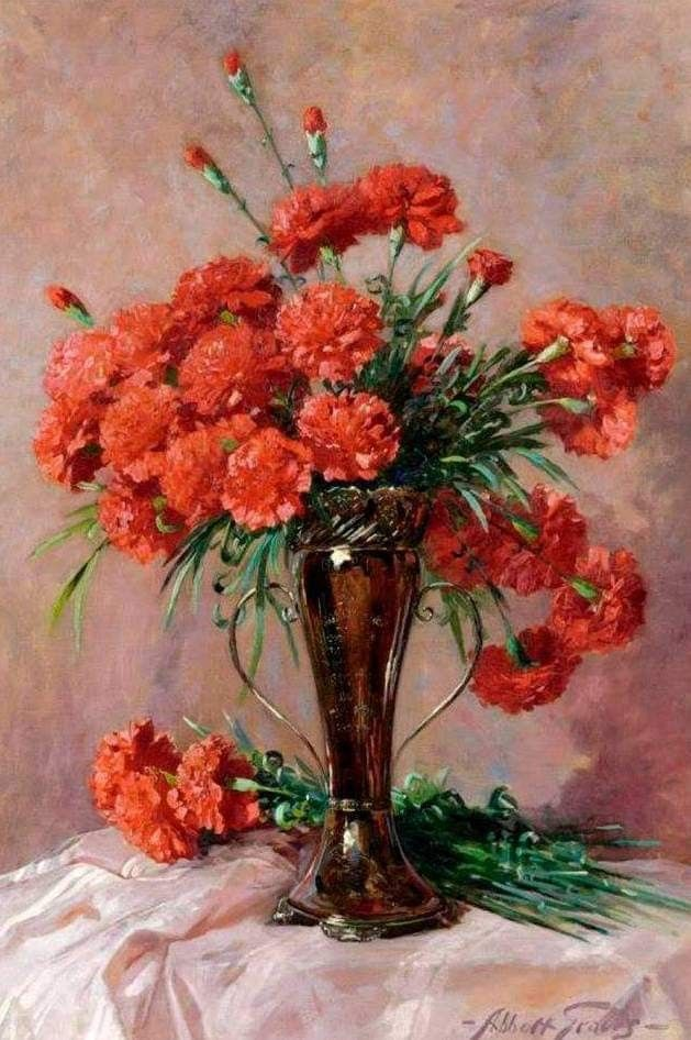 Pin By Krystyna Szkilnik On Gozdziki Flower Wall Art Flower Painting Painting