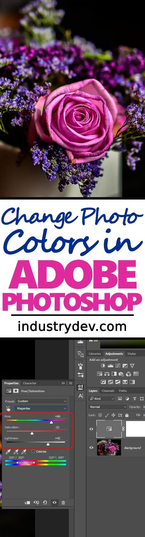 photoshop how to delete one color