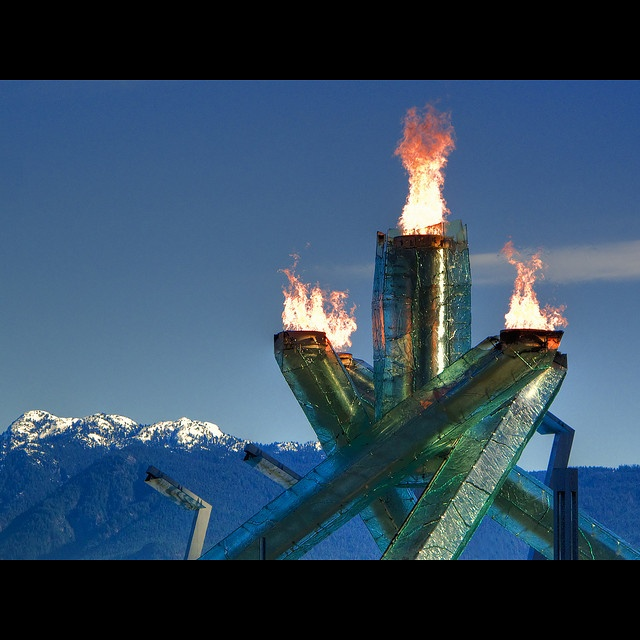 Fire and Ice by ecstaticist, via Flickr    Vancouver Winter Olympics 2010 !!