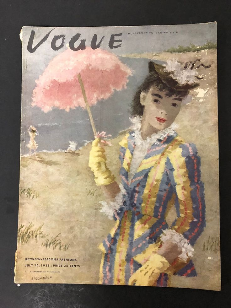 Vtg Vogue Magazine July 15 1938 Fashion; some wear to binding and scratches on cover. | eBay!