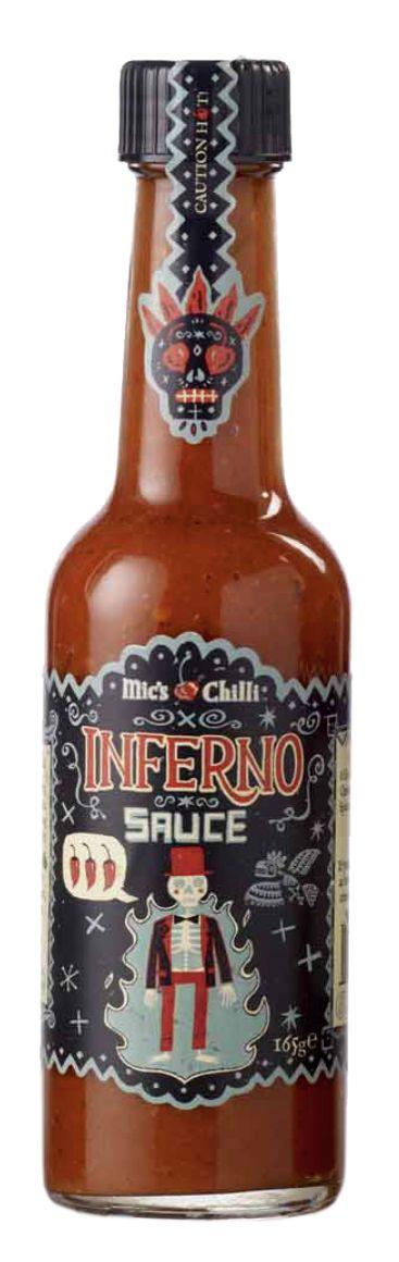 Inferno Sauce Original  Feurig-scharfe Chili-Sauce  8 Habanero-Chili pro Flasche. Bringt Ihre Geschmacksnerven durch die fruchtig-feurige Schärfe zum Glühen.