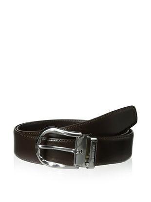 a.testoni Men's Box Calf Belt (Moro)