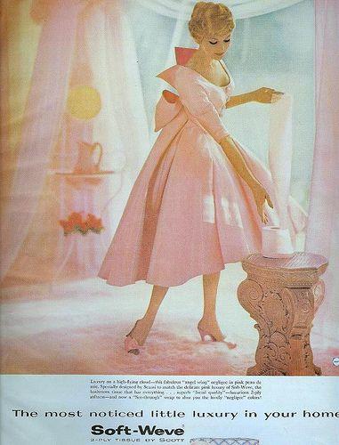 Vintage AdsCocktails Dresses, 1950S, Fashion Vintage, Vintage Fashion, Toilets Paper, Pink, The Dresses, Vintage Ads, Toilet Paper