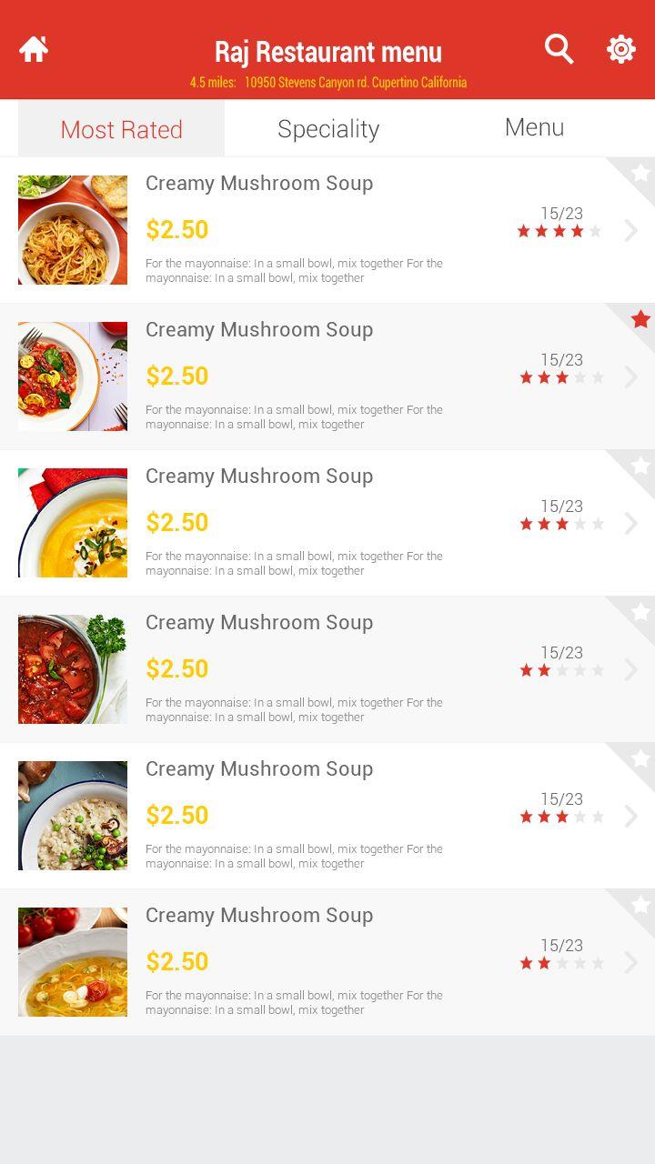 Best food app ui images on pinterest interface design