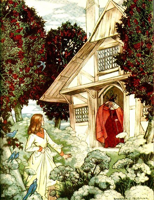 Mother Holly -- Barbara C. Freeman -- Fairytale Illustration