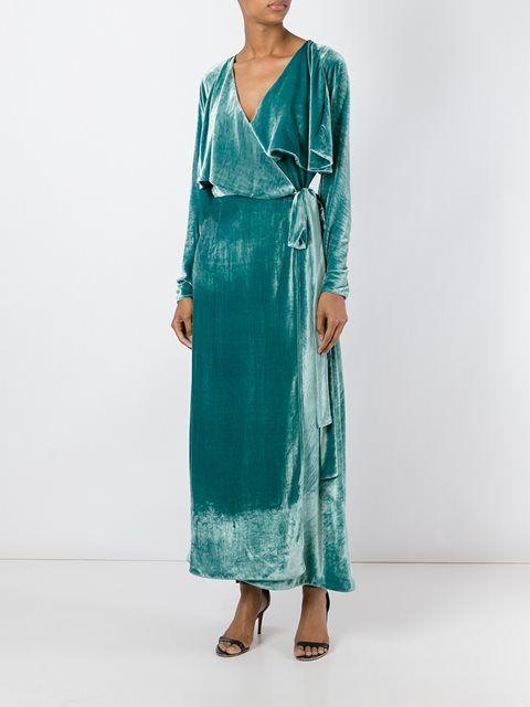 Attico long sleeved wrap dress