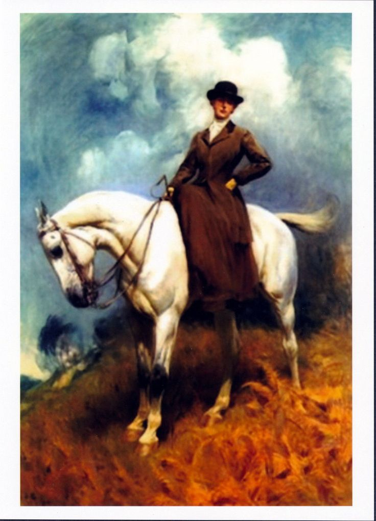 Print Equestrian Sports Arabian Horse C19th Victorian Lady