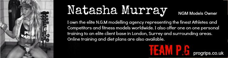 Natasha Murray. Natasha is the proud owner of NGM Model agency.NGM models represent world class Athletes including bodybuilders and competitors, bikini models, fitness models, dancers, Martial Arts Professionals, Boxers, Wrestlers and more. Natasha also offers personal training in and around London & Surrey.  http://www.ngmmodels.com/