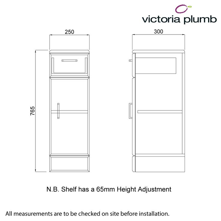Sienna White Storage Unit 300 - Victoria Plumb