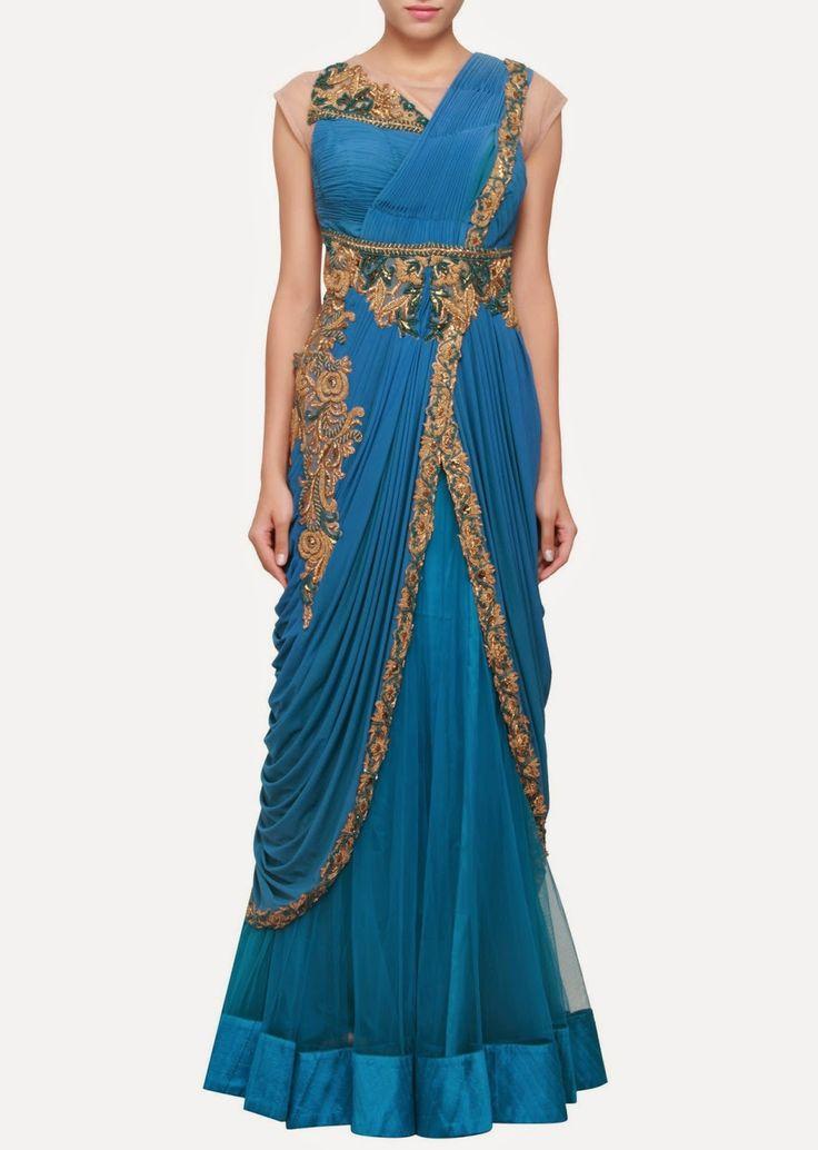 Fashion: Elegant Indowestern Gowns and Lehenga at Kalki-Fashion