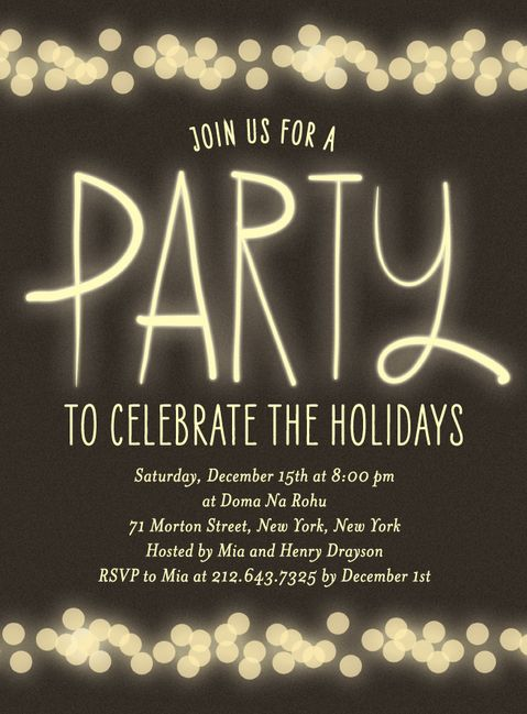 Secret Santa party invite