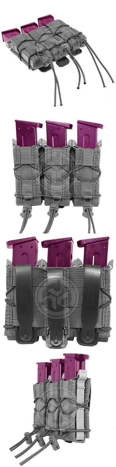 Tactical Molle Pouches 177900: Hsg High Speed Gear Triple Pistol Magazine Taco Molle Military Pouch Wolf Gray -> BUY IT NOW ONLY: $75 on eBay!