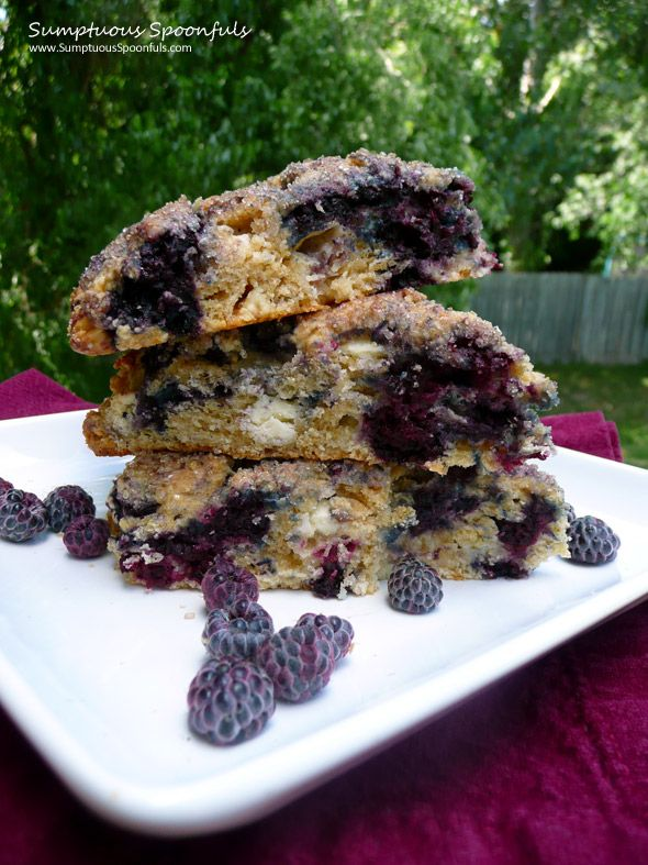 Black Raspberry White Chocolate Scones - Yields about 12 Scones