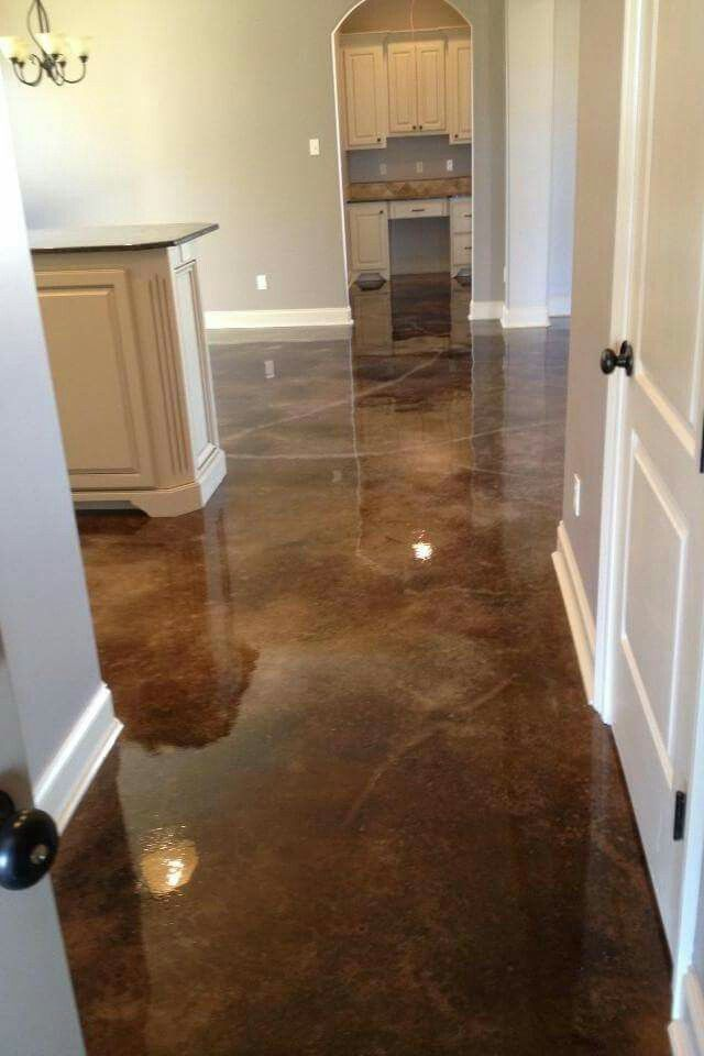 1000 Ideas About Stained Concrete Flooring On Pinterest