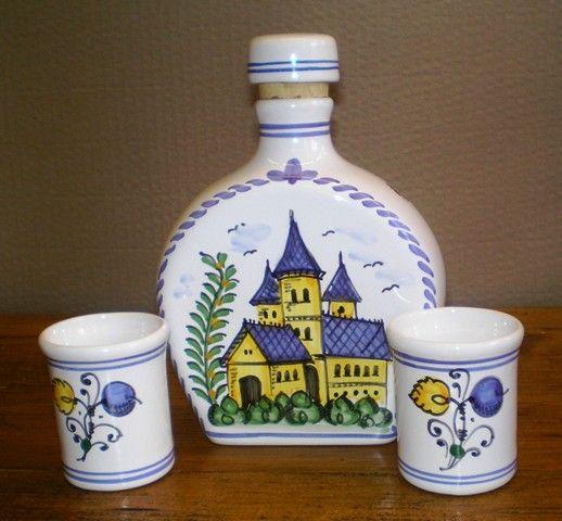 Hungarian brandy set. Handmade.