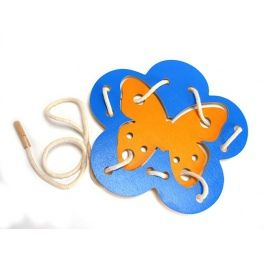 Children will learn lacing and binding at the same time with this fun toy. Interlacing the strings develops manual skills and the ability to focus. Made by Neo-Spiro.