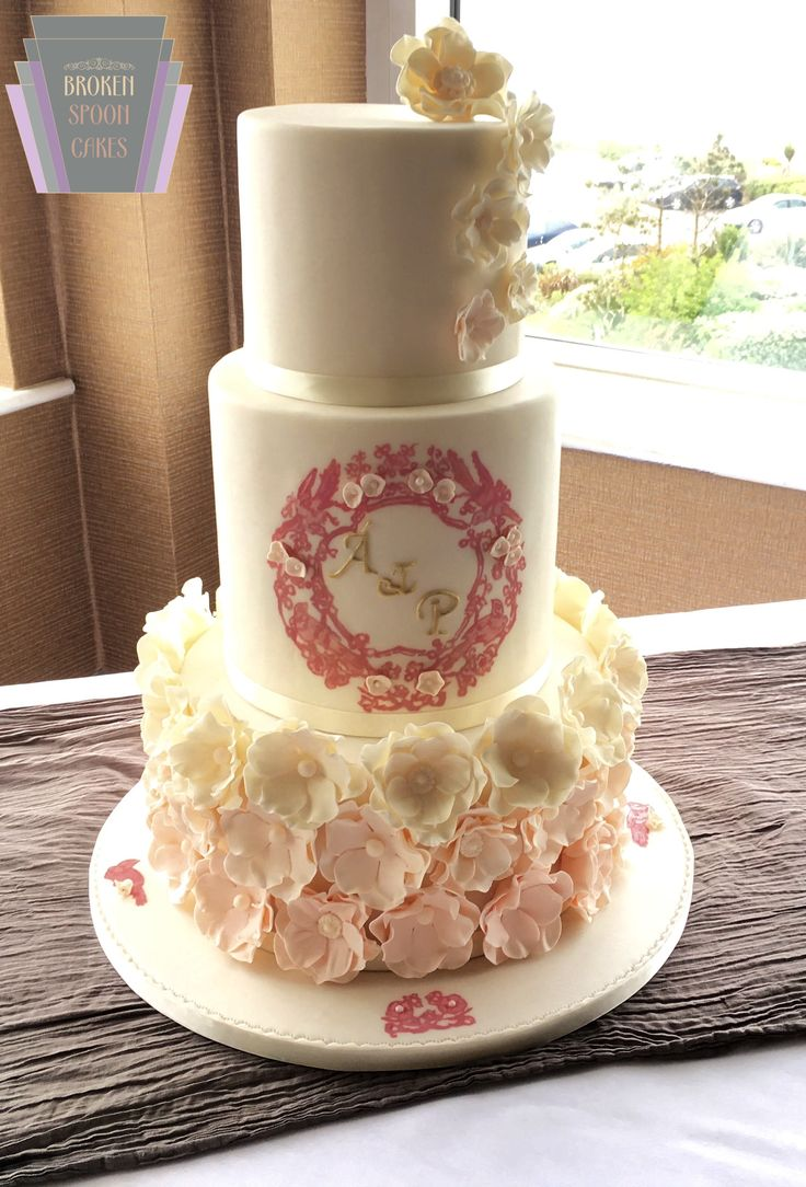 Blossom & Pearl Wedding Cake
