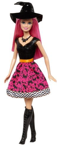 Barbie 2014 Halloween Doll: This Halloween-themed Barbie doll is absolutely bewitching' with its modern silhouette and scary cool details. She's ready to collect candy and capture attention as a trick...
