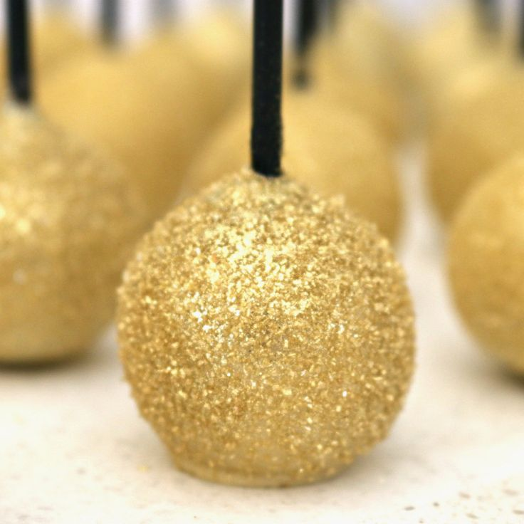 GREAT GATSBY Cake Pops Favours | Bombonieres 18 set | Black Gold Glitter Shimmer | WEDDING by StyledGorgeous on Etsy