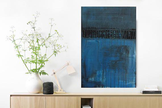 Abstrakte Kunst Blaue Phase Teil 4 Format: ca 40 x 60 cm Dieses Bild ist ein Unikat . Handgefertigt auf Leinwand. Direkt zum aufhängen . Die Leinwand ist gespannt und auf der Rückseite geklammert . Das Bild ist auf der Rückseite datiert und signiert . Bitte beachten Sie das