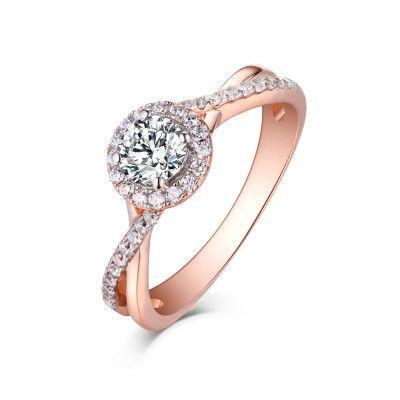 Rose Gold Eternity Rings Cheap