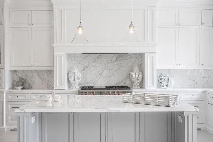 Statuario Marble Countertops, Contemporary, Kitchen