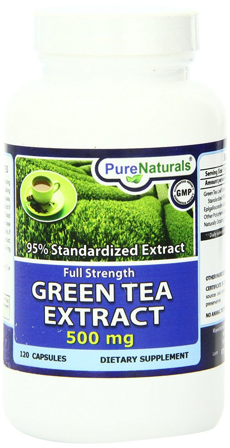Pure Naturals Green Tea Extract Fat Burner Capsules, 500 mg, 120 Count -- Remarkable product available now. : Weight Loss Herbal Supplements