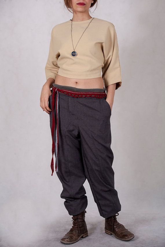 Casual Boho Trousers by ChaSho on Etsy