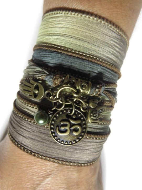 Namaste Hamsa Yoga Schmuck Seidenpackung Armband Elefant von HVart
