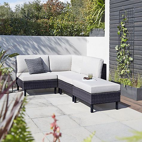 Buy John Lewis Madrid Outdoor Modular Corner Unit Online at johnlewis.com