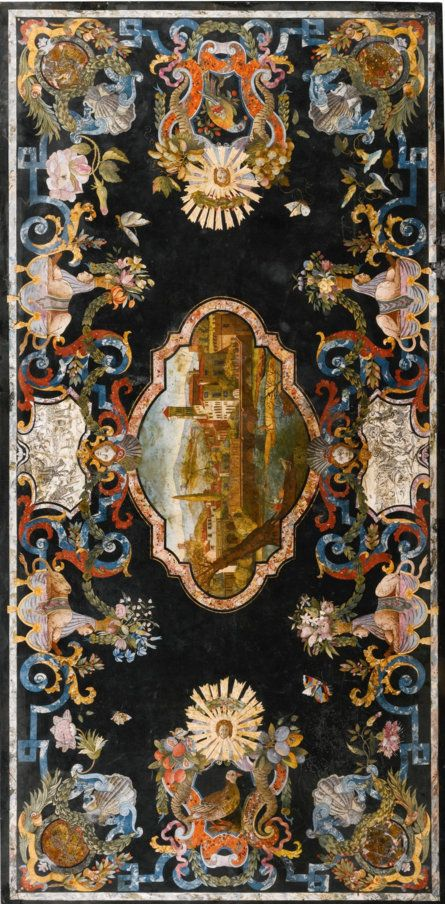 An Italian scagliola table top attributed to Pietro Antonio Paolini, Tuscan circa 1735, SOLD. 182,500 GBP