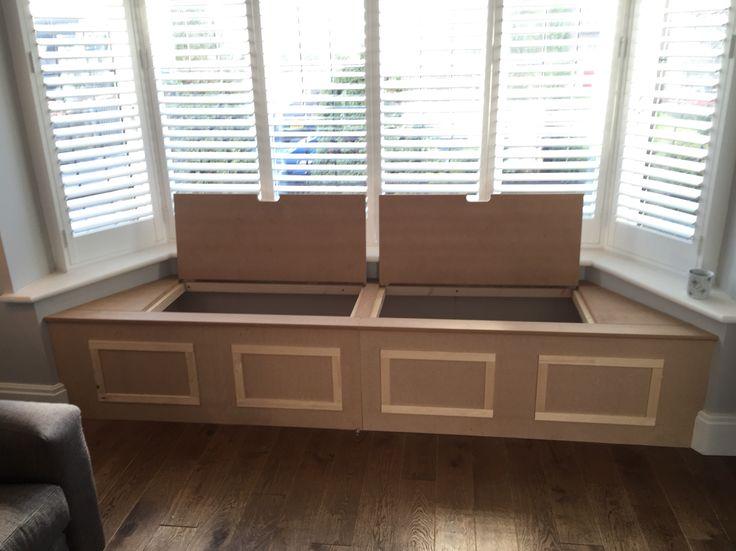 Custom built window storage seat