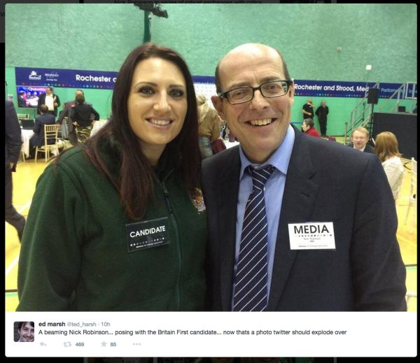 Nick Robinson and Britain First- a step slightly too far to the right, even for an arch Tory like him