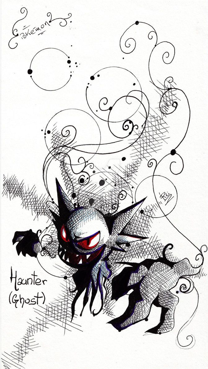 Haunter - Ghost - Fst Gen Pokemon by eREIina.deviantart.com on @DeviantArt