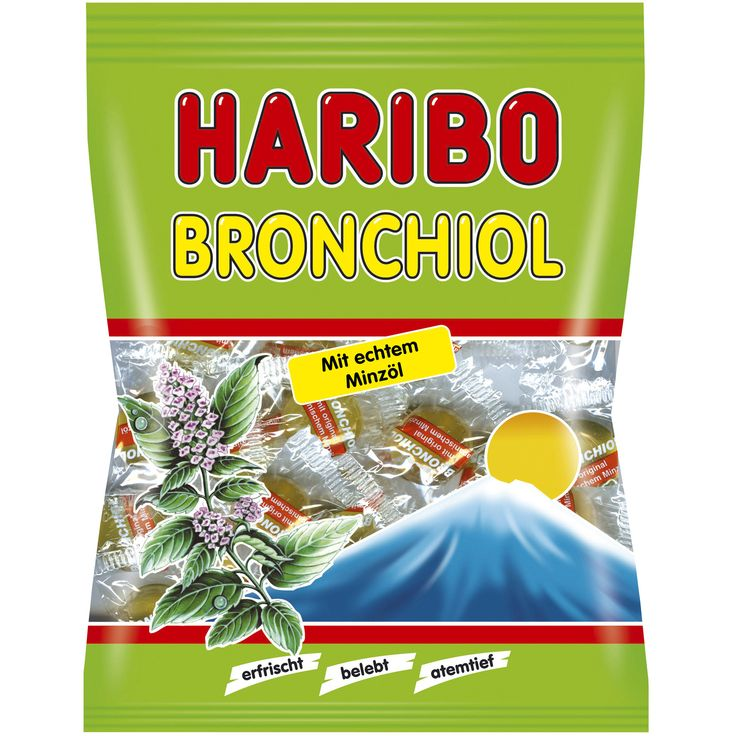 -in USA- HARIBO Bronchiol Menthol throat candy-