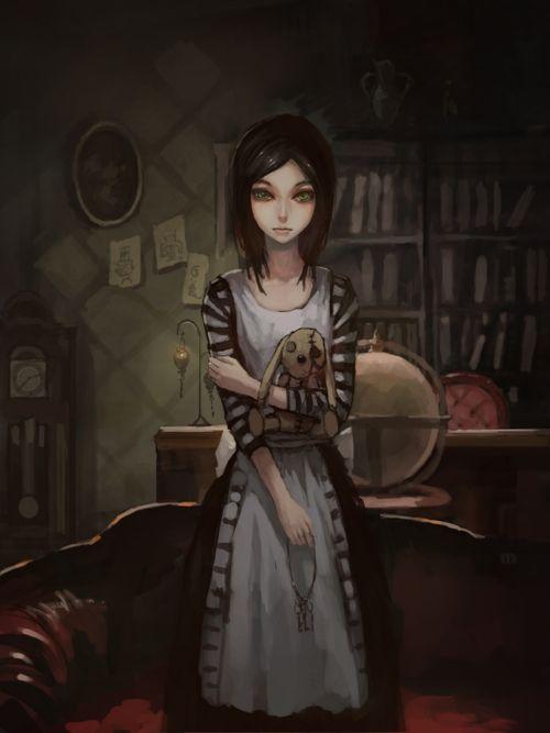 Manchmal fühlt man sich doch selbst wie  Alice. Wenn der Alltag kaum Lebenswert ist und man sich in seine geheime Traumwelt zurück zieht und dort die verrücktesten Dinge erlebt. -Skyrenia