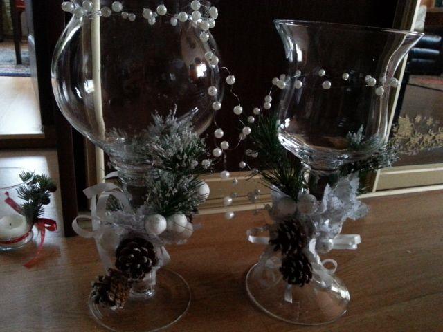 """moje """"świeczniki"""" na świąteczny stół"""