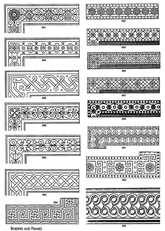 decorative borders suitable for embroidery