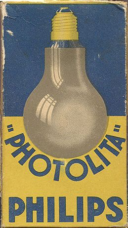 """Photolita"" Philips light bulb, circa 1935"