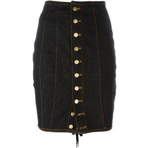 Jean Paul Gaultier Vintage Junior Gaultier laced pencil skirt