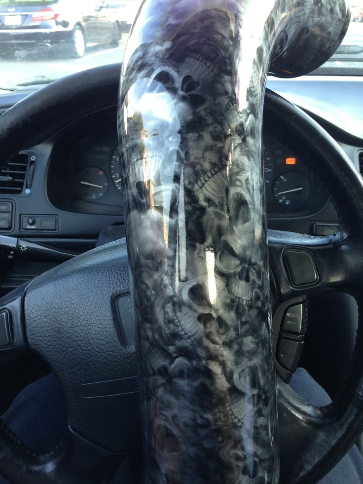 Intake Pipes Customized With Reaper Skulls Hydrographic Pattern