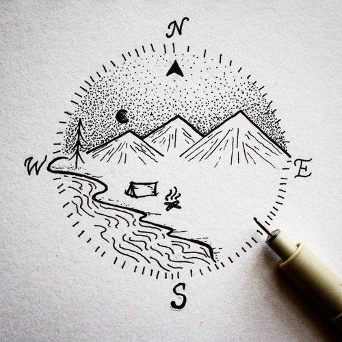 camping compass tattoo.jpg #tiny_compass_tattoo