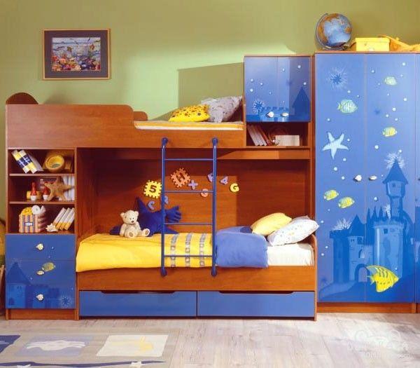 Детские двухъярусные кровати для мальчиков - фото