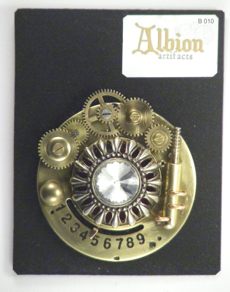 Steampunk Brooch made by my husband (Albion Artifacts)