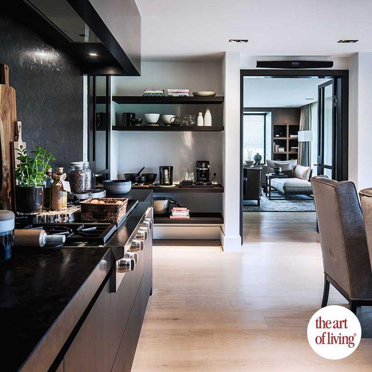 Light Brown Floor / Dark Brown Kitchen