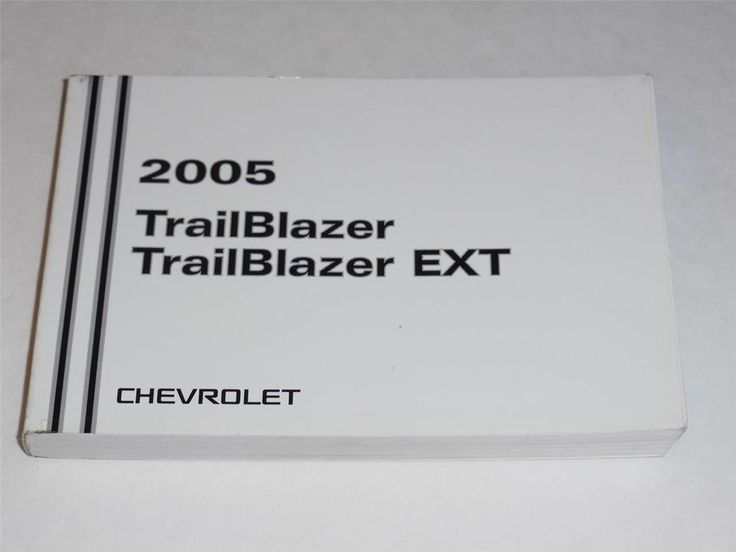 2005 Chevrolet Trailblazer  Trailblazer Ext Owners Manual