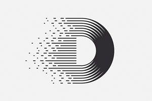 D letter logo - Clim. Logos of the Alphabet